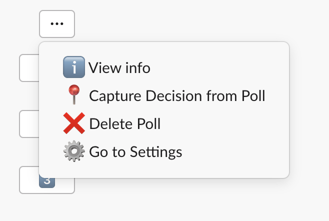 Capture decision from poll